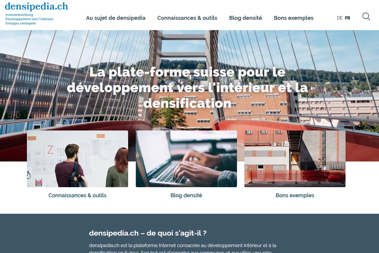 Page d'accueil densipedia.ch